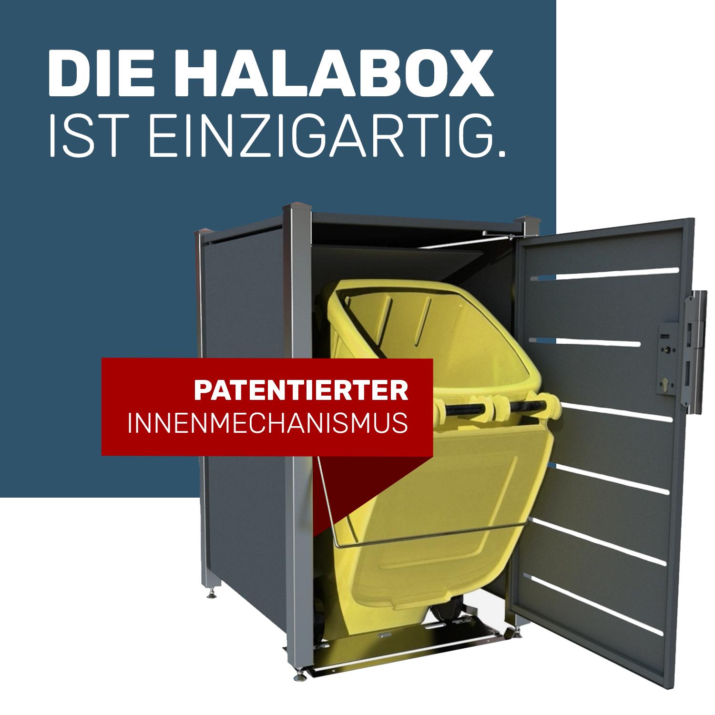 Einfach, sauber und nun auch patentiert – Die innovative Mülltonnenbox